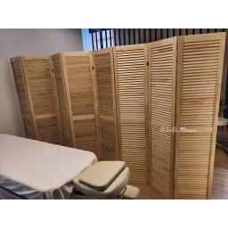 Ширма деревянная из восьми створок JenDi 320x180