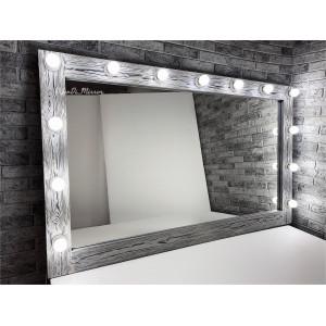 Гримерное зеркало с лампочками JenDi 150х90 см Чикаго