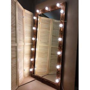Гримерное зеркало с лампочками JenDi 180х90 см Колорадо