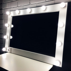 Гримерное зеркало с лампочками  JenDi 70х100 White