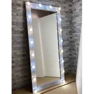 Гримерное зеркало с лампочками JenDi 180х80 Чикаго